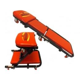 Leżanka regulowana wózek warsztatowy 2w1 024DA