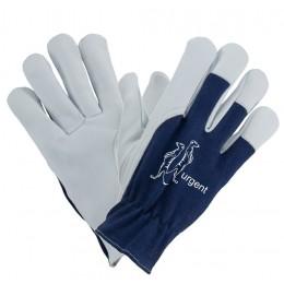 Rękawice 1201 z koziej skóry niebieskie