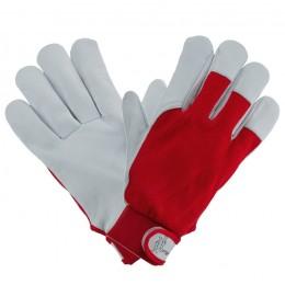 Rękawice 1202 z koziej skóry czerwone