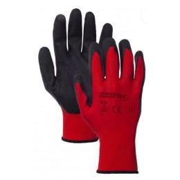 Rękawice powlekana poliestr latex HAND FLEX 1306RED