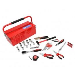 Skrzynka narzędziowa z wyposażeniem 64el.metal box GEKO G10850