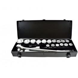 "Zestaw kluczy nasad.21el.3/4"" 6-kąt.19-50mm,metal box GEKO G10112"