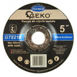 Tarcza do szlifowania metalu PREMIUM 125x6 Inox G78218