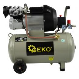 Kompresor olejowy dwutłokowy 50L Geko G80305