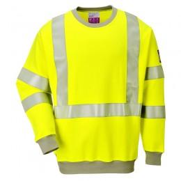 Bluza trudnopalna antystatyczna i ostrzegawcza FR72