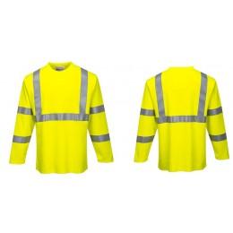 Trudnopalny t-shirt ostrzegawczy z długimi rękawami FR96