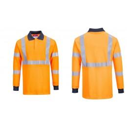 Koszulka polo ostrzegawcza trudnopalna RIS FR76