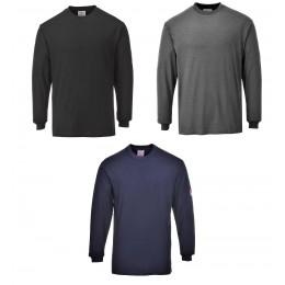 T-shirt z długimi rękawami, antystatyczny, trudnopalny FR11