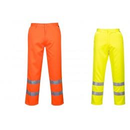 Spodnie ostrzegawcze poliestrowo-bawełniane E041