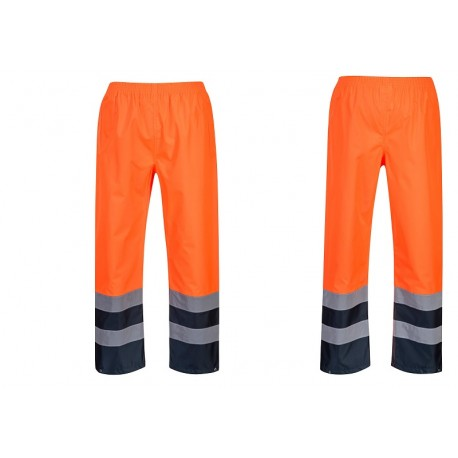 Dwukolorowe spodnie ostrzegawcze Traffic S486