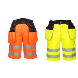 Krótkie spodnie ostrzegawcze PW3 z kieszeniami kaburowymi PW343