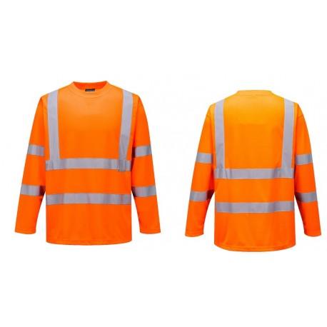 T-shirt ostrzegawczy z długimi rękawami S178