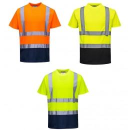 T-shirt ostrzegawczy dwukolorowy S378