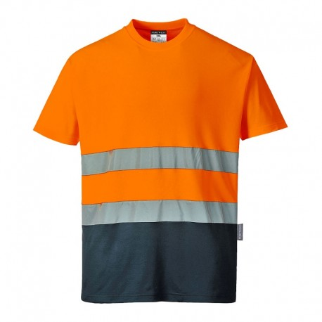 T-shirt dwukolorowy ostrzegawczy Cotton Comfort S173