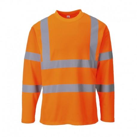 T-shirt ostrzegawczy z długimi rękawami S278